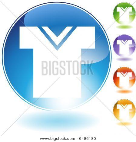 Vee Neck Shirt Crystal Icon