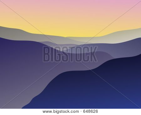 Blue Ridge Mountain Illustration