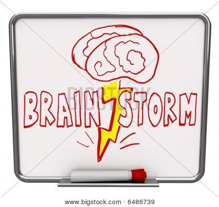 Brainstorm - Dry Erase Board con marcador rojo