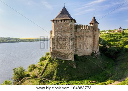 Old Medieval Castle On Dniester Riverside In Khotyn, Ukraine