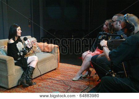 HOLLYWOOD, MAY 6: Adrienne Wilkinson arrives for the post play interview with