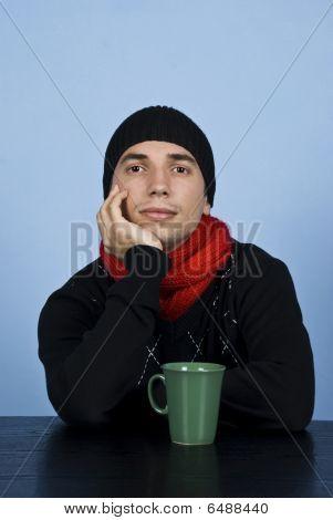 Sad Winter Man