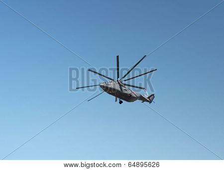 Transport Helicopters In Flight