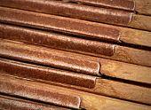 background metal hinges detail old wood folding rule poster