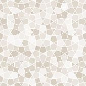 Tangled Tessellation Pattern with white lines. Seamless vector background. poster