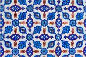 Turkish Blue Tile in Rustem Pasa Mosque poster