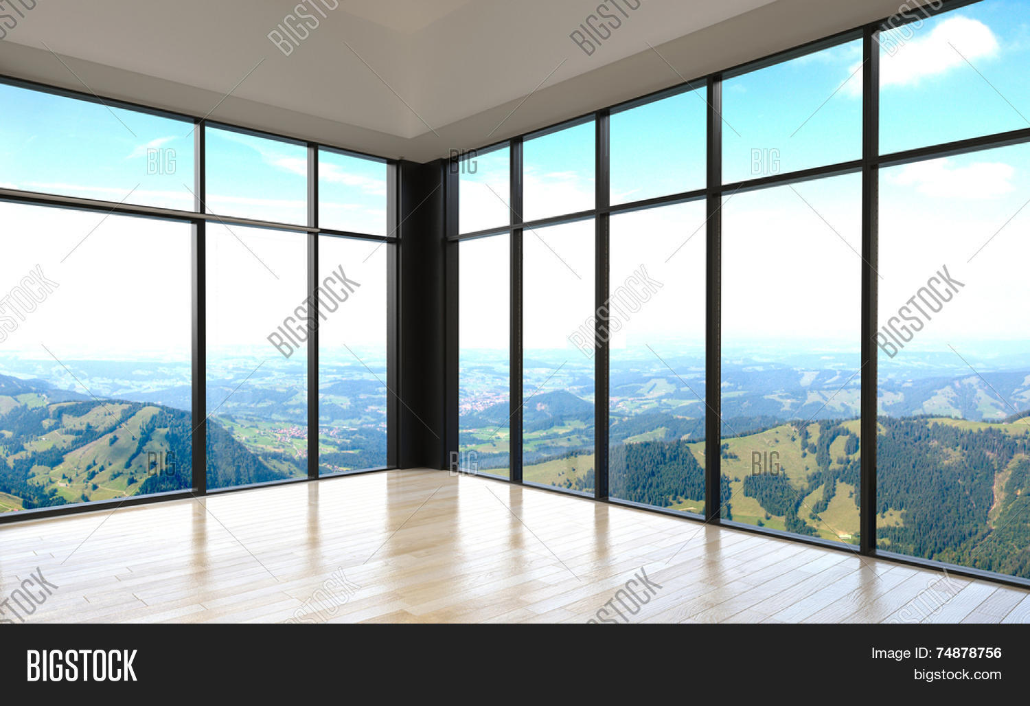 3d rendering simple stylish empty image photo bigstock for Basic 3d room design