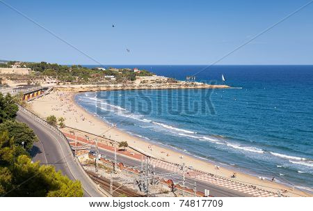 Central City Beach Of Tarragona, Spain
