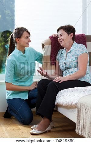 Nurse Talking With Patient