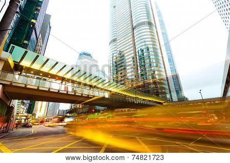 urban city traffic trails ,timelapse