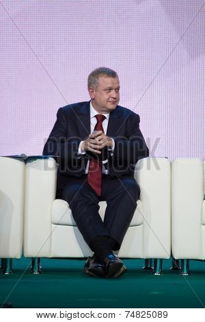 MOSCOW - OCTOBER 17:  S. Kapkov. Talk show. Art, education, and culture during First Moscow International Forum on October 17, 2014 in Moscow, Russia.