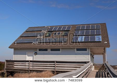 Solar-powered Building At The Shore