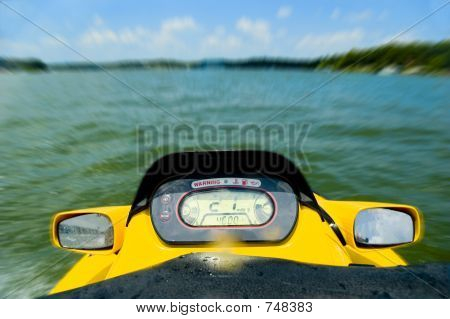Personal watercraft on lake