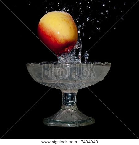 Apple Falls Into Water