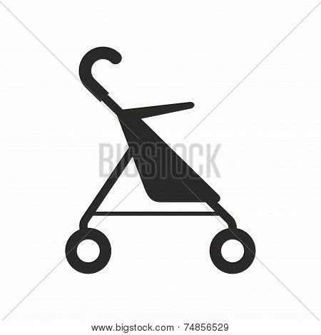 Baby pushchair icon