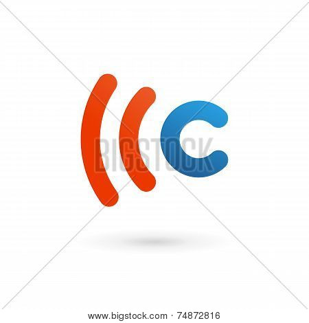 Letter C wireless logo icon design template elements poster