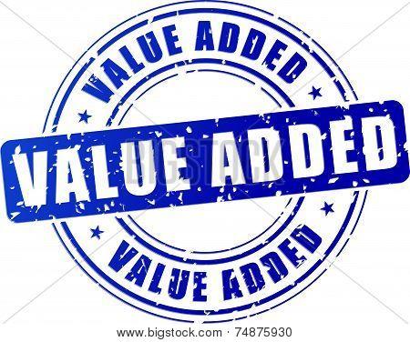 Blue Value Added Stamp
