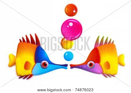 Goldfish With Bobbles - Stock Image