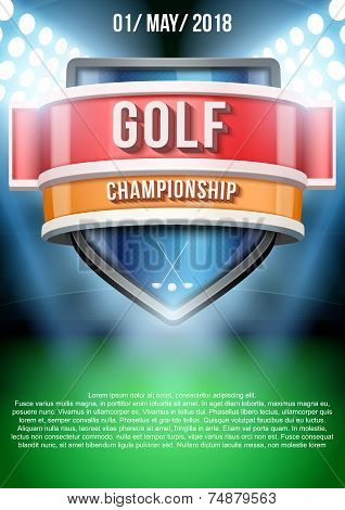Background for posters golf field game announcement. Vector