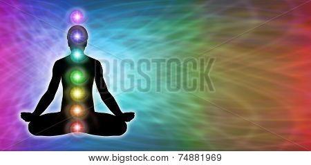 Rainbow  Chakra Meditation Website Banner