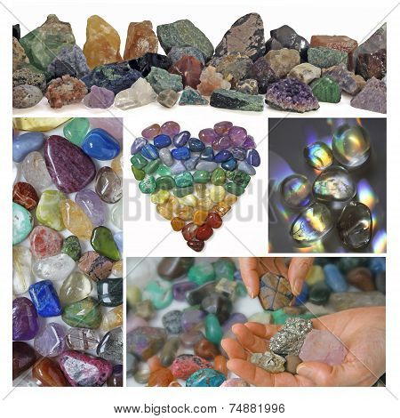Collage of Healing Crystals