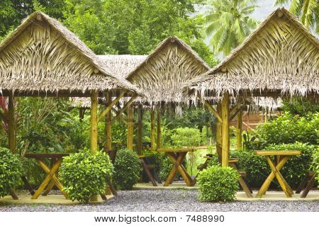 Summerhouses In A Green Garden