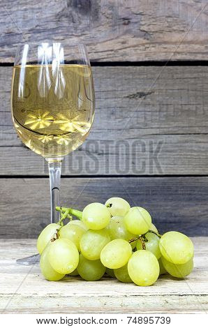Grape With A Glass Of Wine