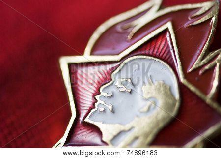 old red mark Vladimir Lenin