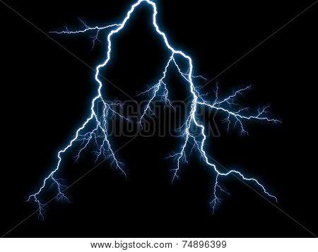 Generic lightning on black background