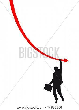 failure man on the graph