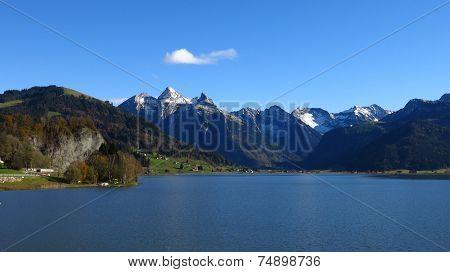 Beautiful Autumn Day At Lake Sihlsee