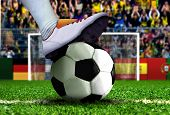 Soccer Player Getting Ready for Penalty Kick poster