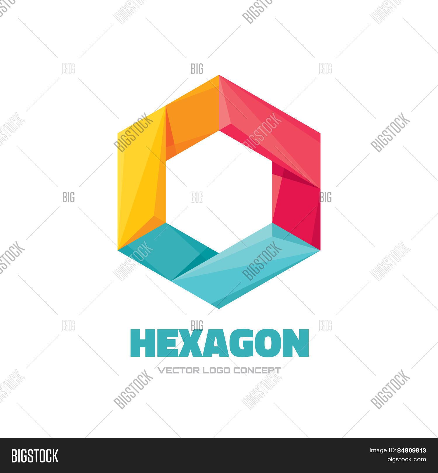 Polygonal Hexagon Logo