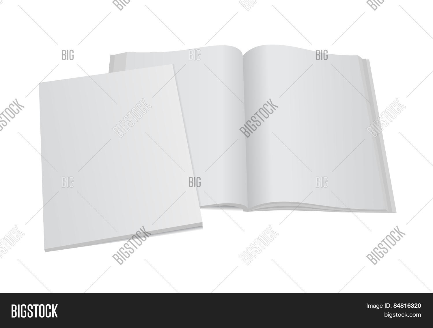 Blank Magazine Vector Photo Free Trial Bigstock