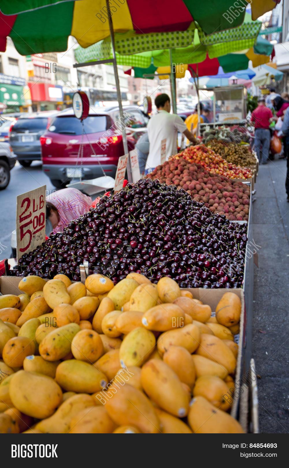 Chinatown Fruit Market Image Photo Free Trial Bigstock