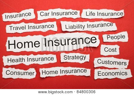Home Insurance Text On Piece Of Torn Paper