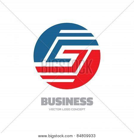 Business - abstract vector logo concept illustration. Vector logo template. Business abstract logo.
