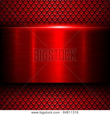 Background red metal texture, vector illustration.