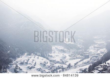 mountain vilage on alpen top