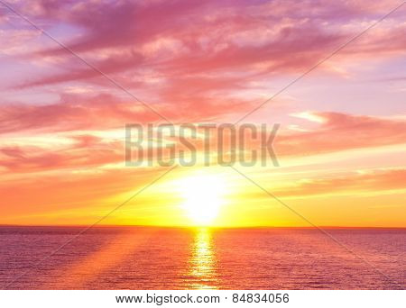 Bright Horizon Sunset Paradise
