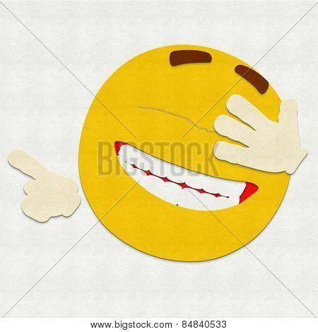 Felt Emoticon Laughing