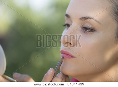 A Young Girl Make Up