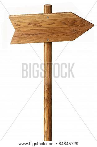 Wood Sign Isolated