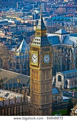 Big Ben clock tower at the British Parliament