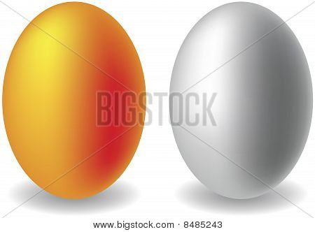 Gold and silver eggs
