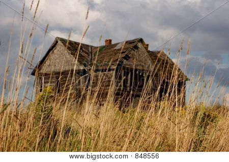 Old House behind grass