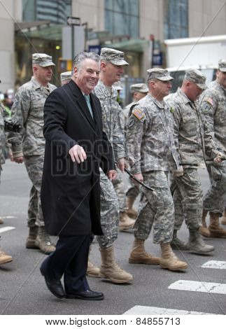 NEW YORK, NY, USA - MAR 17:  Congressman Peter King at the St. Patrick's Day Parade on March 17, 2014 in New York City, United States.