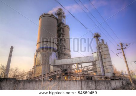 Cement Factory On Sunset