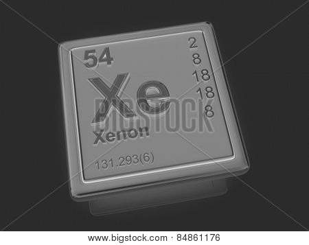 Xenon. Chemical element. 3d