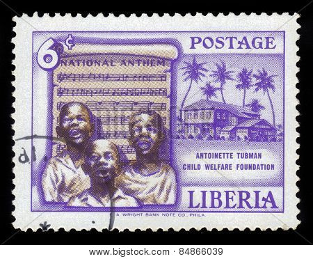 Children Sing The National Anthem Of Liberia